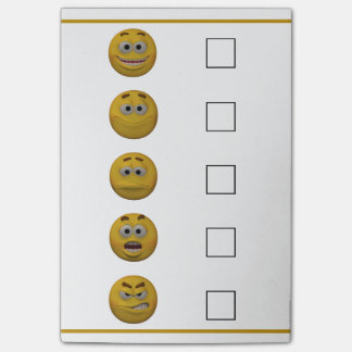 3d Style Mood Check Emoticon Post-it Notes
