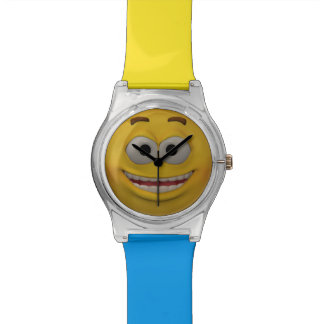 3D Style Smiley Emoticon Watch