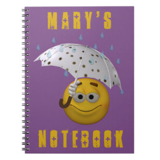 3d style smiley for rainy days notebook