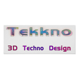 3d techno design 2b poster