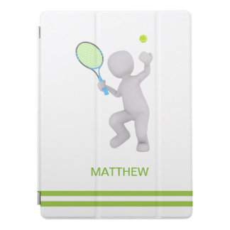 3D Tennis Player Tennis Racket Ball Personalized iPad Pro Cover