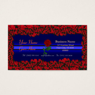 3D Thin Blue Line- Three Dimensional Roses Bouquet Business Card
