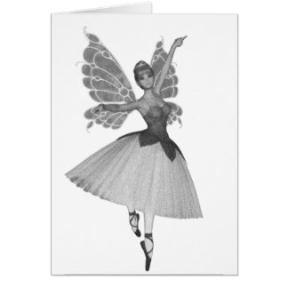 3D Toy Ballerina Black & White Infrared Card