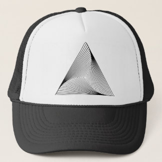 3d Triangle Optical Illusion Trucker Hat