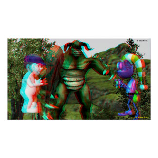 3D Troll Fight Hollywood Tours IN 3D Poster