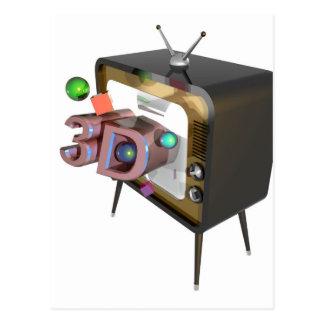 3D tv Postcard