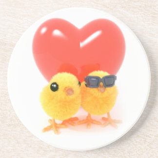 3d Two Cute Chicks in Love Coaster