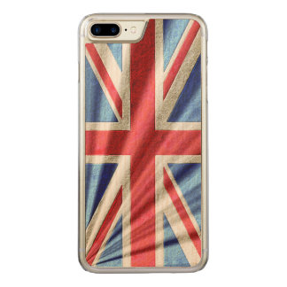 3D Union Flag/Jack Design Carved iPhone 8 Plus/7 Plus Case