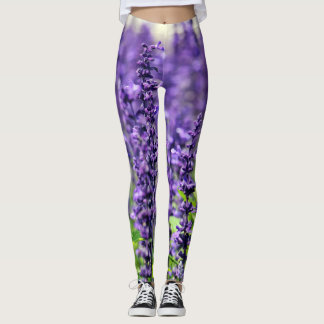 3D Violets Leggings