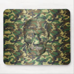 3D Woodland Camo Skull Mouse Pads