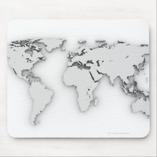 3D World map, computer generated image Mouse Pad