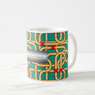 3D Woven Pipes Illusion Classic Mug