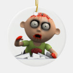 3d Zombie Surprise Attack! Christmas Tree Ornament