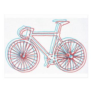 3Dish Bike Postcard