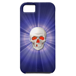 3DSkull - Angel of Death with Blue Halo Case For The iPhone 5