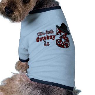 3ème anniversaire de petit cowboy t-shirts pour chien