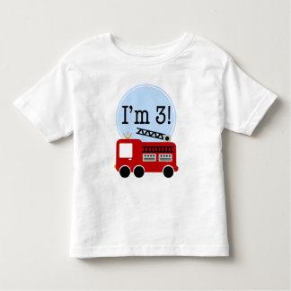 3ème Camion de pompiers d'anniversaire T-shirt Pour Les Tous Petits