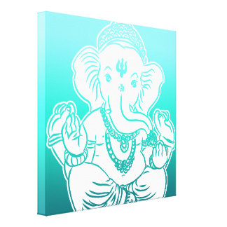 3FT x 3FT GANESH WALL GRAPHIC ART Stretched Canvas Print