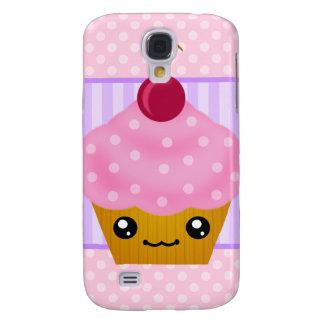 3G Kawaii Cupcake Cherry Samsung Galaxy S4 Covers