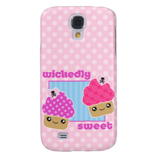 3G Kawaii Wicked Sweet Cupcakes  Galaxy S4 Cover