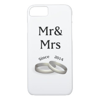 3rd anniversary matching Mr. And Mrs. Since 2014 iPhone 8/7 Case