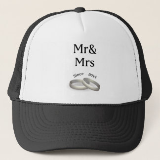 3rd anniversary matching Mr. And Mrs. Since 2014 Trucker Hat