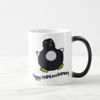3rd Anniversary Penguin Mug