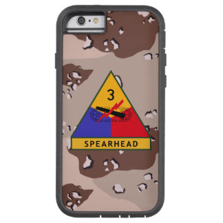 """3rd Armored Division """"Spearhead"""" Desert Camo Tough Xtreme iPhone 6 Case"""
