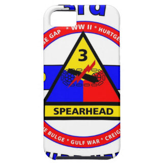 """3RD ARMORED DIVISION """"SPEARHEAD-THIRD HERD"""" iPhone 5 COVER"""