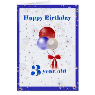 3rd Birthday Balloons Card