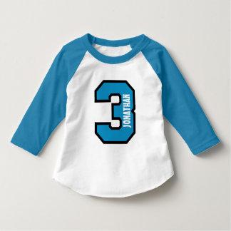 3rd Birthday Boy Sports Number Three Years A01 T-Shirt