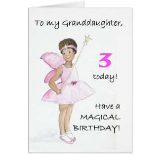 3rd Birthday Card for a Granddaughter