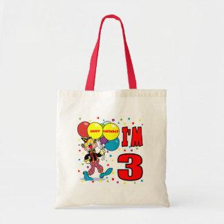 3rd Birthday Clown Birthday Tote Bag
