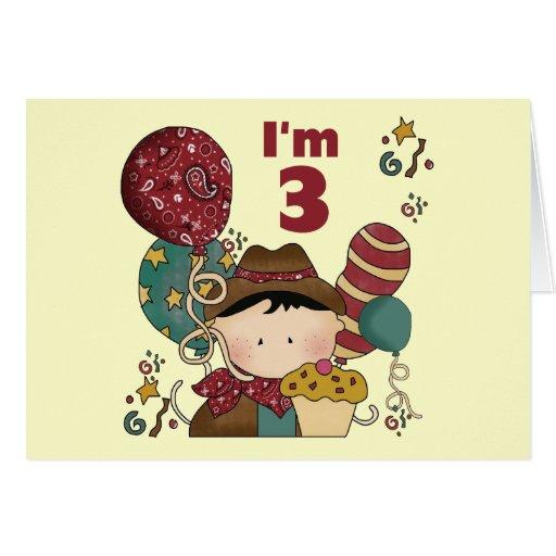 3rd Birthday Cowboy T-shirts and Gifts Greeting Card