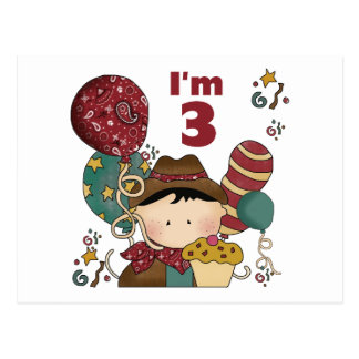 3rd Birthday Cowboy T-shirts and Gifts Postcard