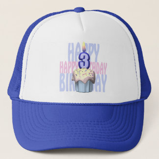 3rd Birthday Cupcake Birthday Trucker Hat