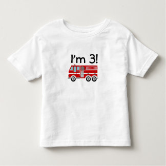 3rd Birthday Fire Engine Toddler T-shirt