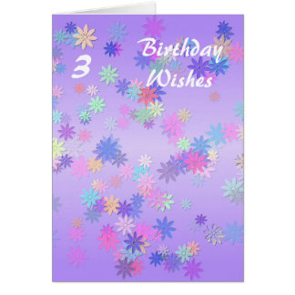 3rd Birthday Greeting Card
