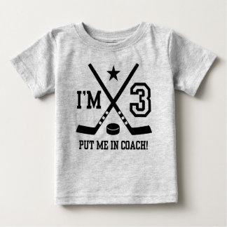 3rd Birthday Hockey Baby T-Shirt