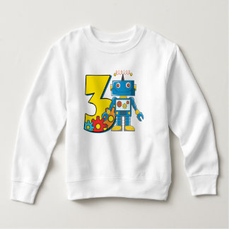 3rd Birthday Robot Sweatshirt