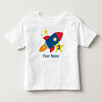 3rd Birthday Rocket Ship Personalized T-Shirt