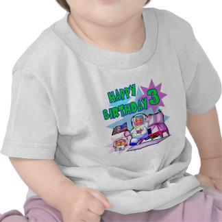 3rd Birthday Space Birthday Tshirts
