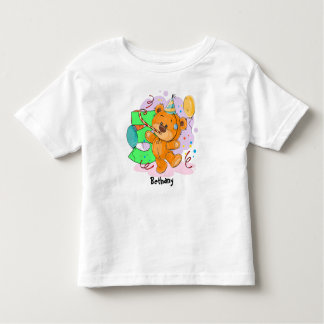 3rd Birthday Teddy Bear Toddler T-shirt