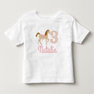 3rd Birthday Three Years Shabby Chic Pony Shirt