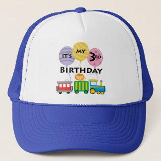 3rd Birthday Train Birthday Trucker Hat