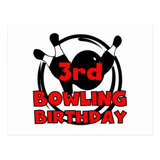 3rd Bowling Birthday Tshirts and Gifts Postcard
