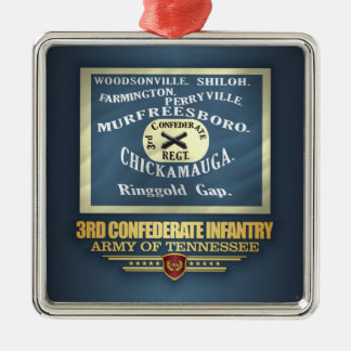 3rd Confederate Infantry Metal Ornament