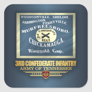 3rd Confederate Infantry Square Sticker
