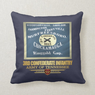 3rd Confederate Infantry Throw Pillow