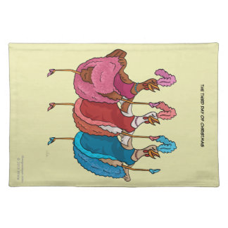 3rd Day of Christmas (Three French Hens) Placemat